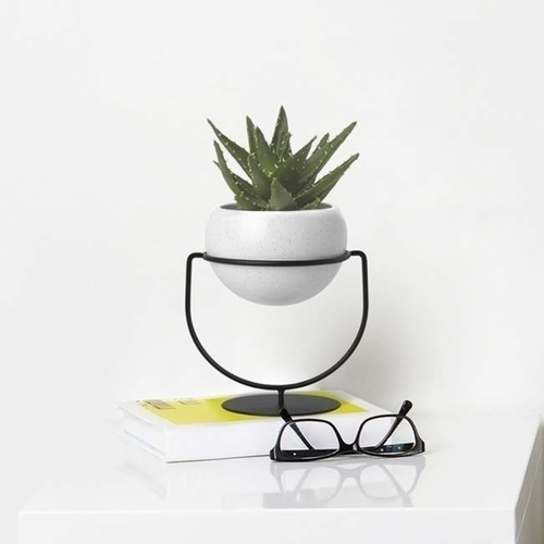 UMBRA závěsný hrnec BOLO černý - kov, keramika