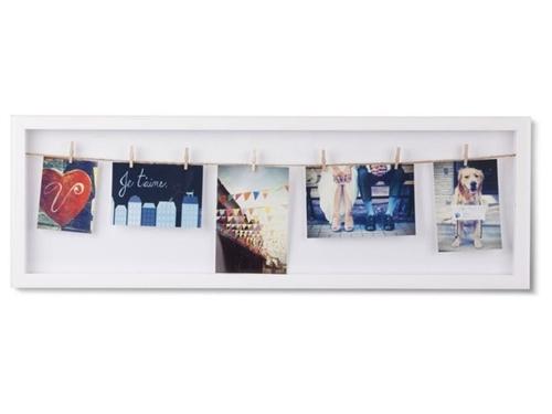 UMBRA fotorámeček CLOTHESLINE FLIP bílý