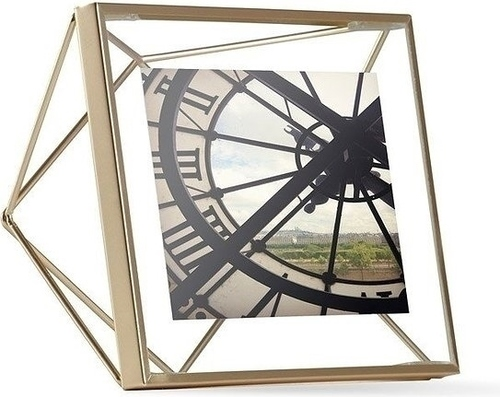 UMBRA fotorámeček PRISMA 10x10 cm - zlatý