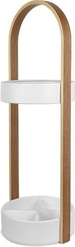 UMBRA deštník HUB bílý - dřevo, kov