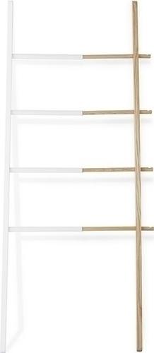 UMBRA HUB žebříkový věšák bílý - dřevo, ocel