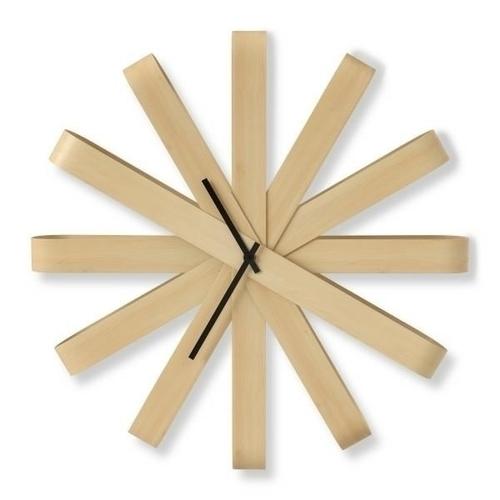 UMBRA RIBBONWOOD hodiny - přírodní
