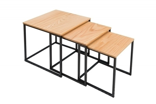 Sada stolů dub TRIO SLIM - černý podstavec