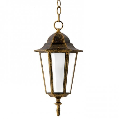 Závěsná zahradní lampa POLUX LIGURIA patina