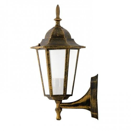 Zahradní nástěnná lampa POLUX LIGURIA-up, patina