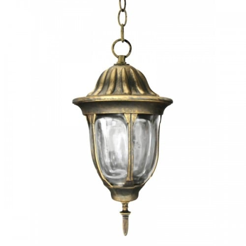 Závěsná zahradní lampa POLUX FLORENCE patina