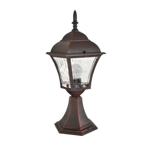 Stojací zahradní lampa s barevným sklem (34 cm) - PARIS 2 (včetně 2v1 žárovky)