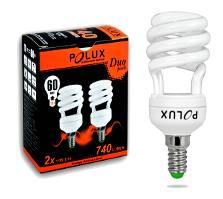 Świetlówka energooszczędna POLUX duopack T2 11W E14 2700K