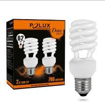 Úsporná žárovka PolUX Duopack T2 11W E27 2700K