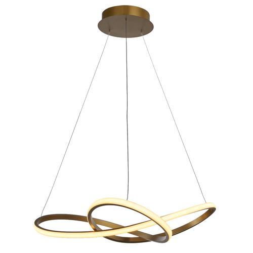 Zlatá závěsná lampa Vita LED