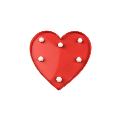 Červené plastové LED srdce