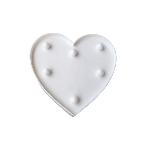 Plastové LED srdce