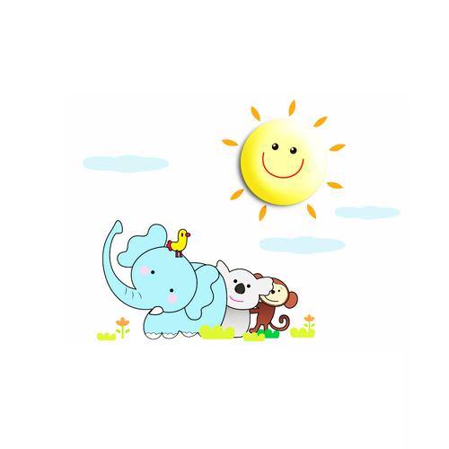 žlutá dětská lampa Sunny 0,6 W Led