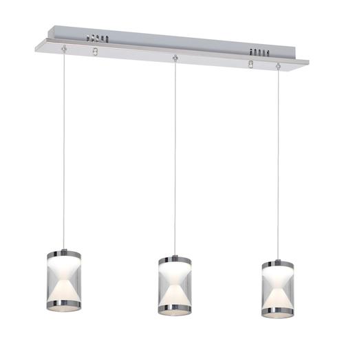 Chromová závěsná lampa Tiempo 15 W vedená