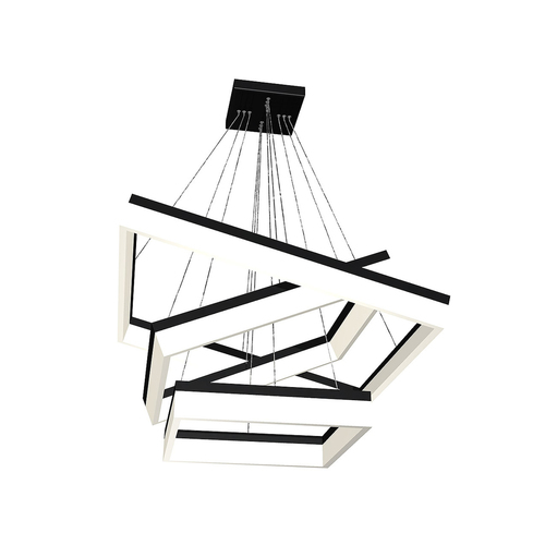 Černá závěsná lampa Nero 140 W Led