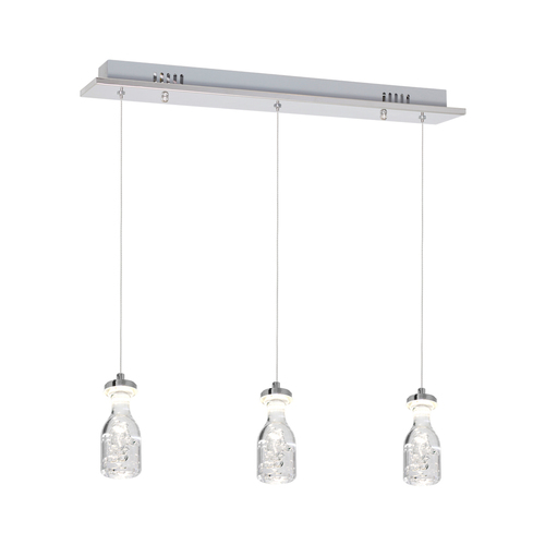 Chromová závěsná lampa na led 3x5W