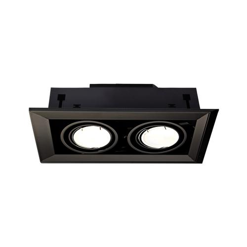 Černá skrytá lampa Blocco Black 2x7 W Gu10 Led