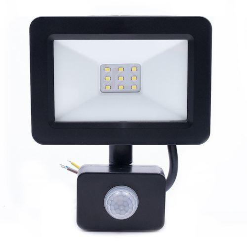 Černý LED světlomet 10 W. Barva: 6500 K. Pir IP65