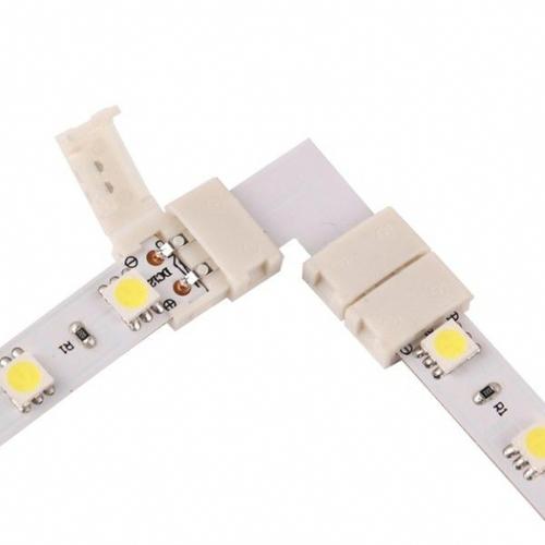 LED konektor 10 mm. Tvar: L.