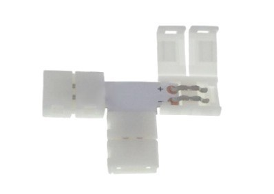 LED konektor 10 mm. Tvar: T