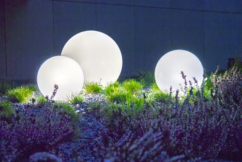 Zestaw 3 zewnętrznych lamp Kule ogrodowe - Luna Balls 30, 40, 50cm 6