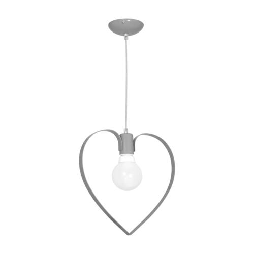 Šedá závěsná lampa Amore Gray 1x E27
